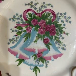 Vintage Dining - Vintage happy anniversary plate decorative